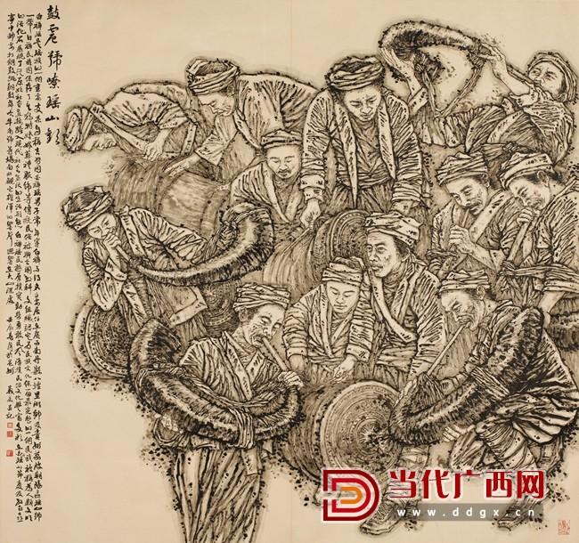 (图四)陶义美  鼓震号嘹瑶山欢  180cm×190cm   2012年.jpg