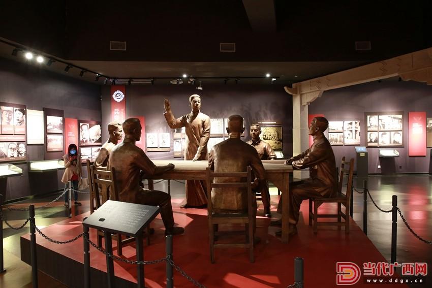 南宁市博物馆1929南宁兵变展厅,模拟中共广西省第二次代表大会现场。记者 卢松见 摄_副本_副本.jpg