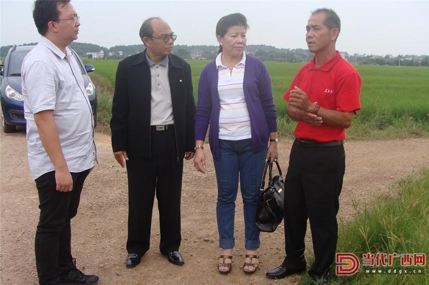梁天银陪同老挝农业专家考察。梁勋日供图_副本.jpg