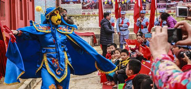 传统村落文艺演出迎新春