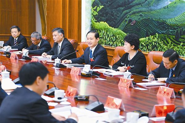 彭清华参加百色市代表团讨论