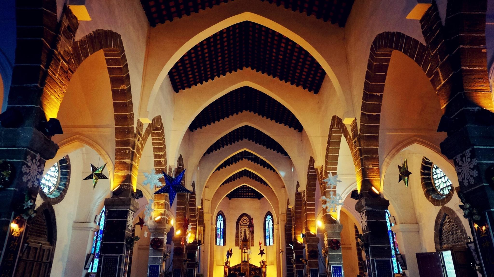 涠洲岛上的天主教堂.资料图