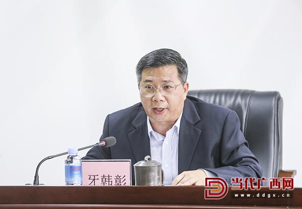 原社长、总编辑牙韩彰在会上作表态发言。 记者 刘峥 摄0.jpg